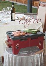 Bio Maude, Design Praktische Grill mit Gusseisen Kochfläche direkt auf dem Tisch verwendet und ist komplett mit Holzgriffen.