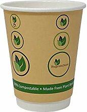 BioGreenChoice Einwegbecher aus kompostierbarem
