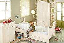 BioKinder 23820 Noah Spar-Set Kinderzimmer komplett: Kinder-Bett, Kommode, Kleider-Schrank aus Massivholz Kiefer