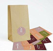 BIOZOYG Adventskalender aus kleinen Kraftpapier