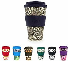 BIOZOYG Bunter Bamboo Reisebecher Coffee Cup I