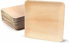 BIOZOYG Hochwertiges Palmblattgeschirr | 25 Stück