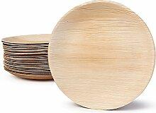 BIOZOYG Hochwertiges Palmblattgeschirr I 100