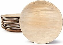 BIOZOYG Hochwertiges Palmblattgeschirr I 25 Stück