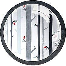Birches and birdsKabinett Knöpfe Schubladenknopf