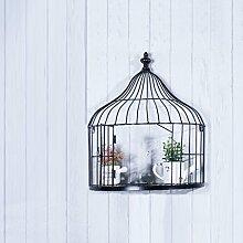 Birdcage Regal, Eisen Kunst Wandbehang Vogelkäfig