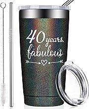 BIRGILT 40 Years Fabulous, lustiges Geschenk zum