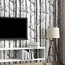 Birke Baum Muster Seide Woods Tapetenrolle Moderne