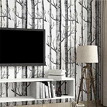 Birken-Muster Vlies Woods Wallpaper Roll Moderne