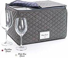 Birne & Shade Weinglas-Aufbewahrungsbox,