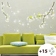 Birnenbaum mit Blüten Wandsticker Wandtattoo