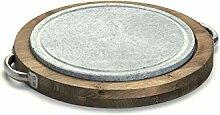 Bisetti Grillstein, rund, Durchmesser 30 cm mit