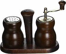 Bisetti Wedge Walnussholz-Set P.Mill/S.Shaker,