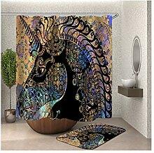 Bishilin 120x180 Bad Vorhang für Badezimmer Totem