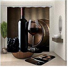 Bishilin 150x180 Bad Vorhang für Badezimmer