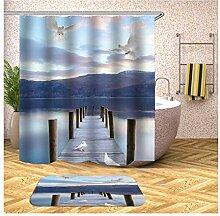 Bishilin 150x200 Bad Vorhang für Badezimmer