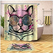 Bishilin 165x180 Bad Vorhang für Badezimmer Tier