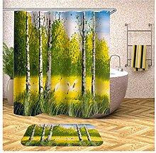 Bishilin 165x200 Bad Vorhang für Badezimmer Hain