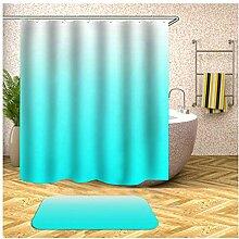 Bishilin 165x200 Bad Vorhang für Badezimmer