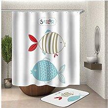 Bishilin 180x180 Bad Vorhang für Badezimmer