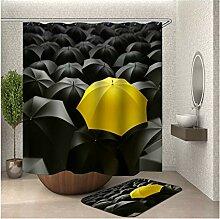 Bishilin 180x200 Bad Vorhang für Badezimmer Gelb