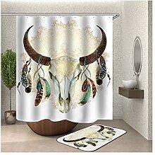 Bishilin 180x200 Bad Vorhang für Badezimmer