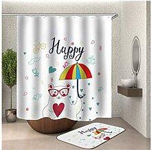 Bishilin 90x180 Bad Vorhang für Badezimmer Bär