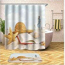 Bishilin Bad Vorhang für Badezimmer 150x200,