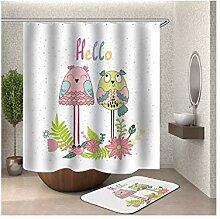 Bishilin Bad Vorhang für Badezimmer 165x180,