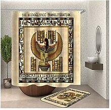 Bishilin Bad Vorhang für Badezimmer 180x180,