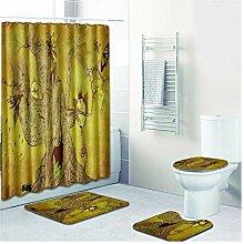 Bishilin Bad Vorhang für Badezimmer 180x180 Baum