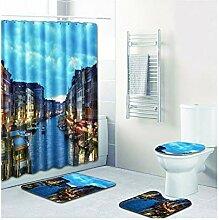 Bishilin Bad Vorhang für Badezimmer 180x180