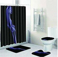 Bishilin Bad Vorhang für Badezimmer 180x180 Rauch
