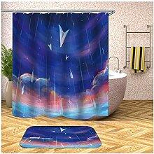 Bishilin Bad Vorhang für Badezimmer 180x200,