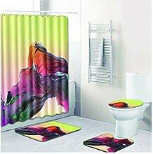 Bishilin Badezimmerteppich Toilette 50x80