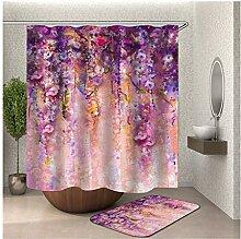 Bishilin Blumen Bad Vorhang für Badezimmer