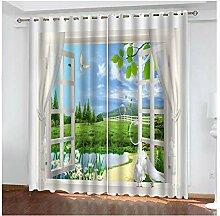 Bishilin Gardinen Vorhänge Blickdicht Wohnzimmer