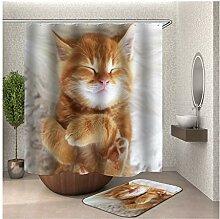 Bishilin Katze Bad Vorhang für Badezimmer