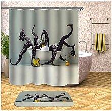 Bishilin Octopus Bad Vorhang für Badezimmer