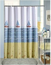 Bishilin Polyester-Stoff Badezimmer Duschvorhang