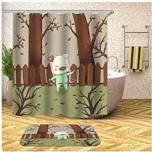 Bishilin Schwein Bad Vorhang für Badezimmer