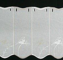 Bistrogardine Scheibengardine Meterware Stickerei