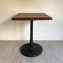 Bistrotisch aus Gusseisen & Holz, 1920er