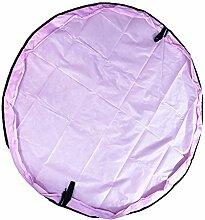 BITEYI Kinder Spielmatte Aufräumsack Spieldecke Foldable Spielzeugsack Aufbewahrungssack für Spielzeug Speicher Tasche 150cm (Rosa)