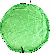 BITEYI Kinder Spielmatte Aufräumsack Spieldecke Foldable Spielzeugsack Aufbewahrungssack für Spielzeug Speicher Tasche 150cm (Grün)