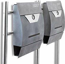 BITUXX® Design Doppel Standbriefkasten 16776