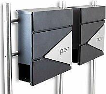 BITUXX® Design Doppel Standbriefkasten 16779