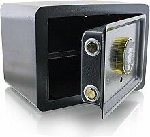 BITUXX® Design Safe Tresor elektronisch Minisafe Wandtresor Wandsafe Schranktresor Geldschrank Möbeltresor Geldsafe (Grau)