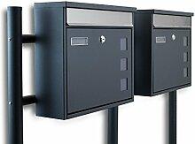 BITUXX® Freistehender Doppelstandbriefkasten