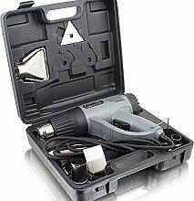 BITUXX® Heißluftpistole Heißluftfön 2000 Watt Heissluftgebläse Düsen Grill Entlacken inkl. 4 Vorsatzdüsen